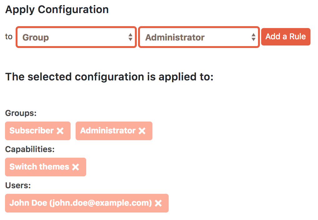 Setting different sets of permissions for customizations in Cusmin