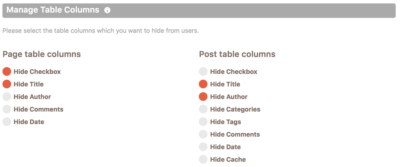 Hiding CPT table columns in Cusmin
