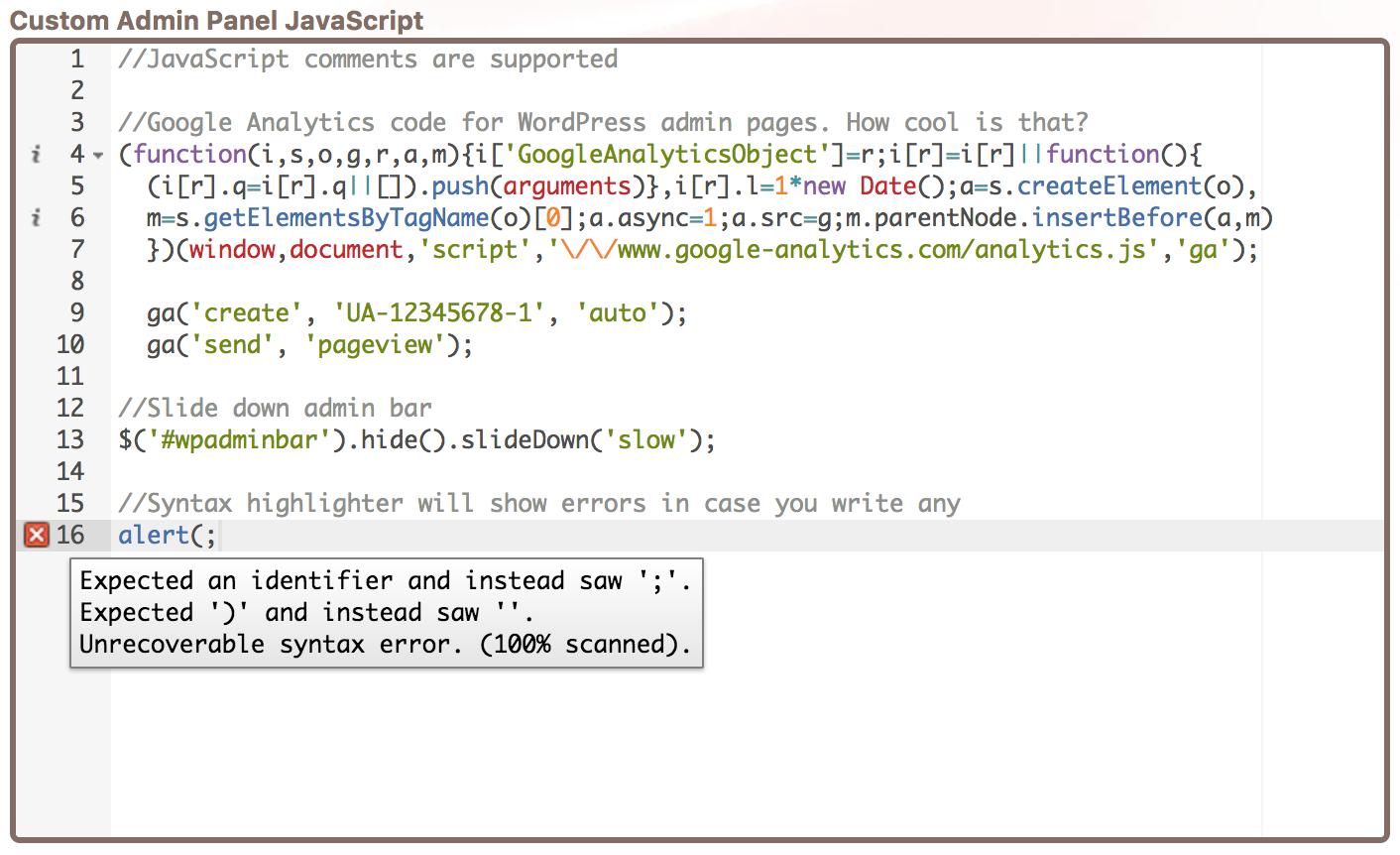 Custom WordPress Admin JavaScript - Cusmin