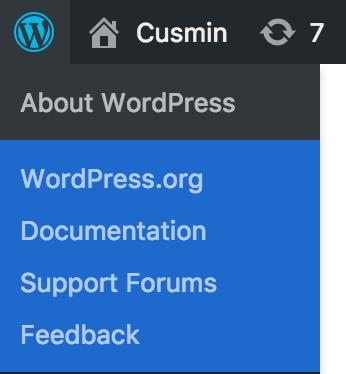 Custom colors of the default WordPress context menu in the admin bar