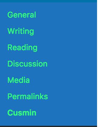 Custom text color of the admin menu context items