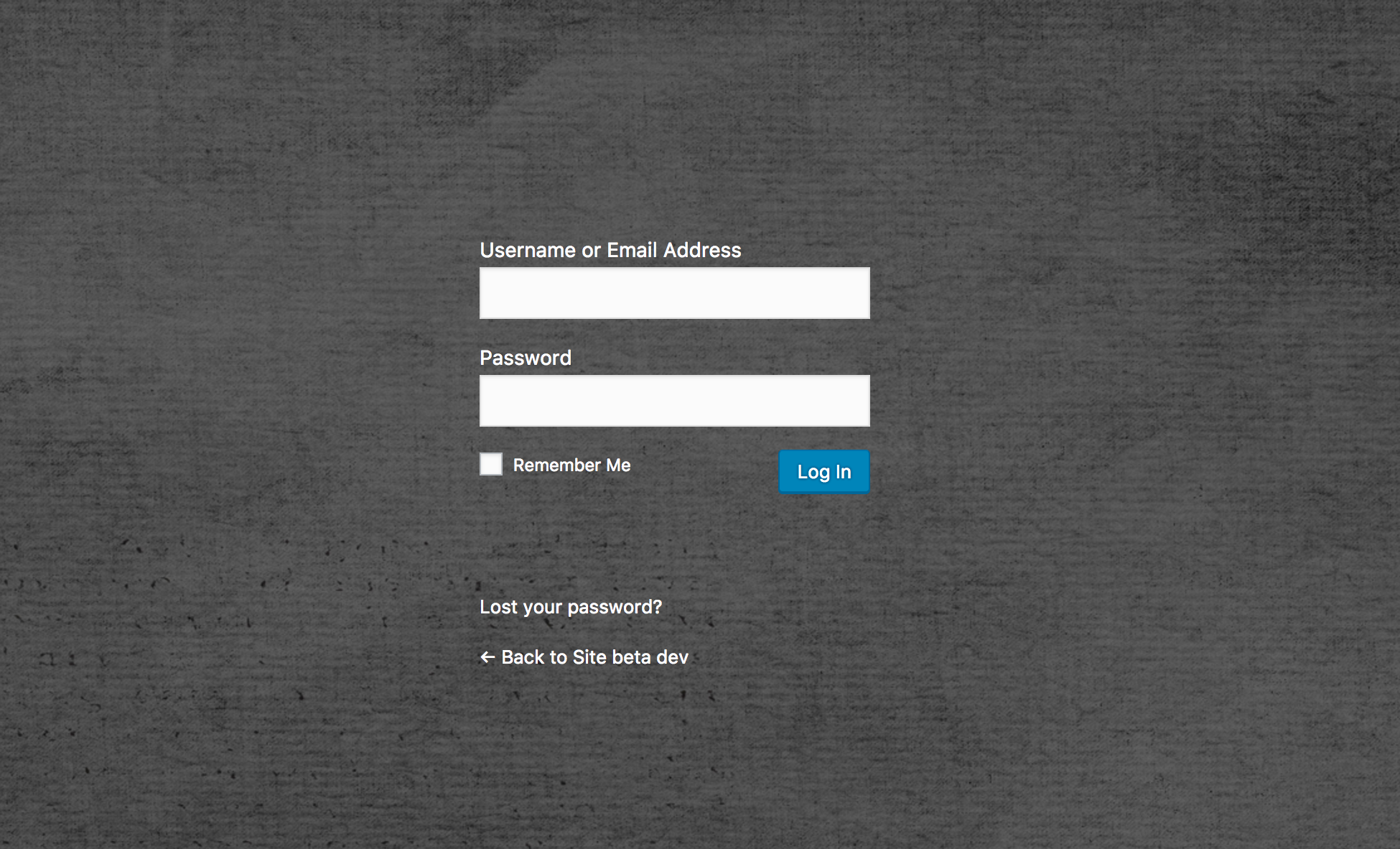 WordPress login page with custom background and transparent login form made by Cusmin