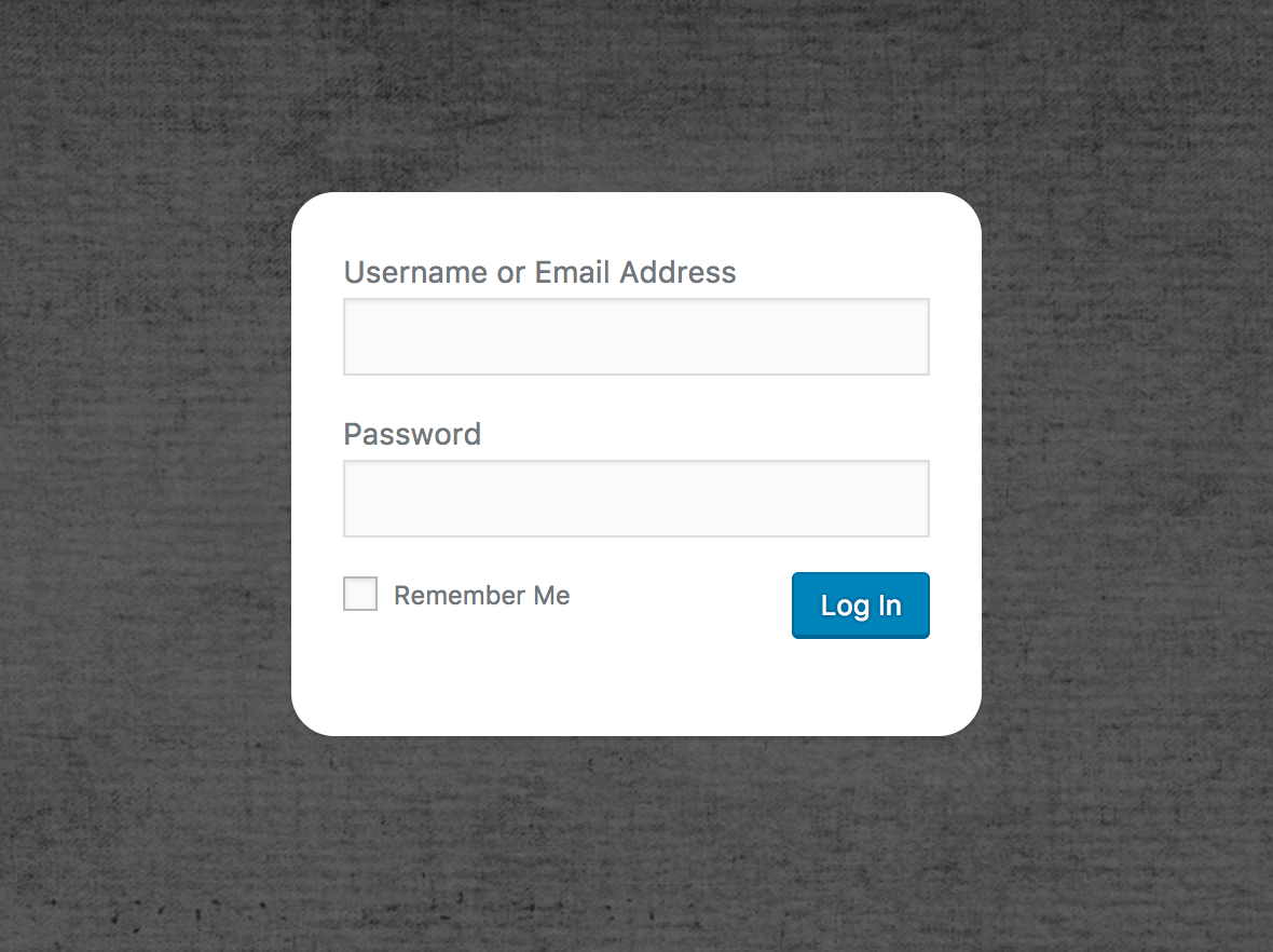Rounded corners of the WordPress login form made by Cusmin