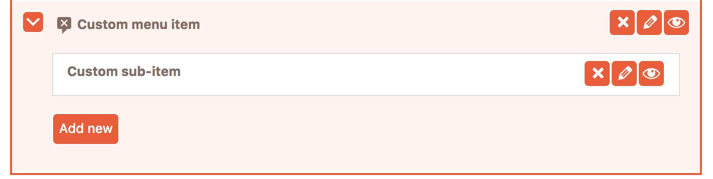 Remove button in Cusmin Admin menu editor