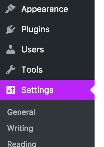 Background color of the active admin menu item