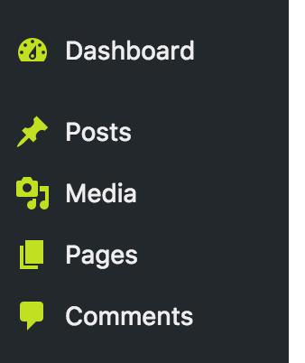 Custom admin menu icons color