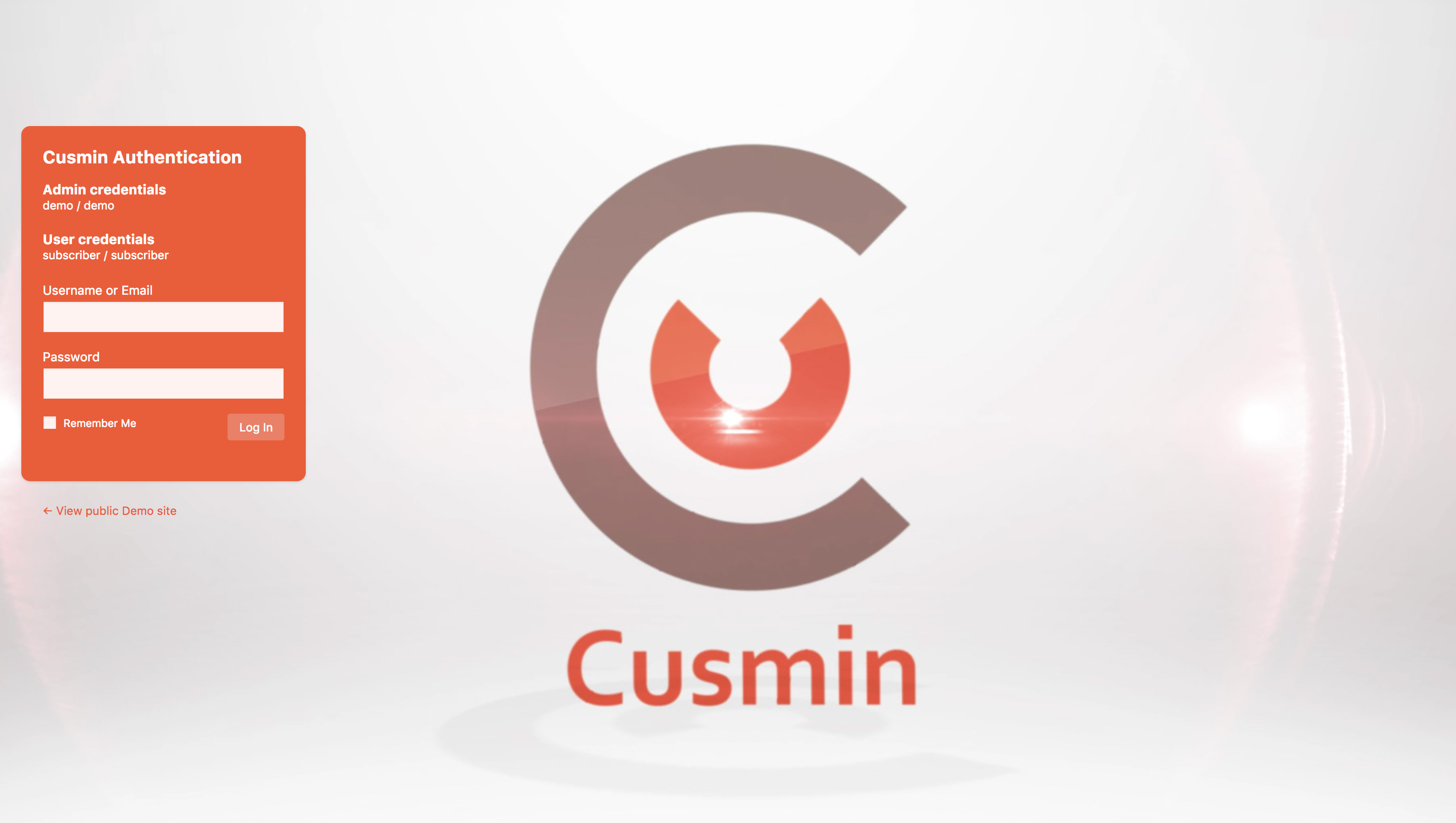 Changed login form position to the left with Cusmin