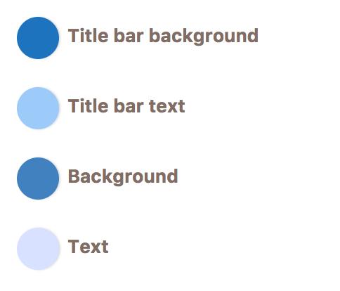 Cusmin options for setting custom colors of the WordPress admin widgets